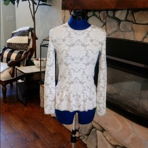 Ann Taylor Light peplum sweater